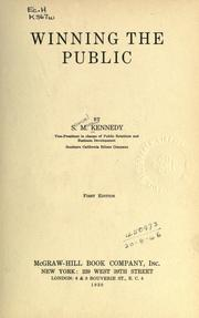 Cover of: Winning the public | Samuel Macaw Kennedy