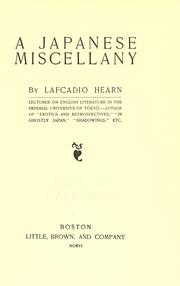 Cover of: A Japanese miscellany | Lafcadio Hearn