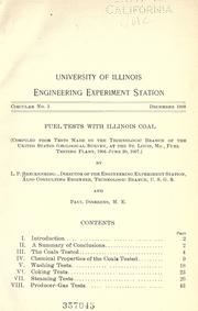 Cover of: Fuel tests with Illinois coal