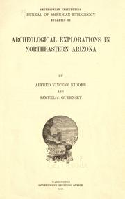 Archeological explorations in northeastern Arizona by Alfred Vincent Kidder