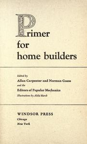 Cover of: Primer for home builders