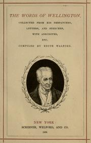 Cover of: The words of Wellington