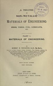 Cover of: Materials of engineering