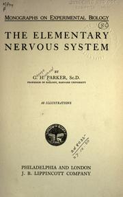 Cover of: The elementary nervous system