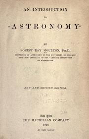Cover of: An introduction to astronomy