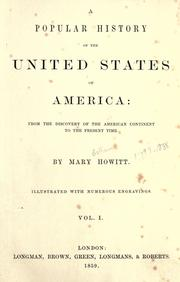 Cover of: A popular history of the United States of America
