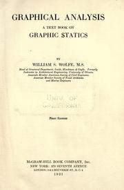 Cover of: Graphical analysis