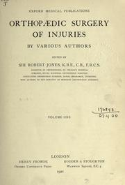 Cover of: Orthopaedic surgery of injuries