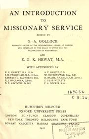 Cover of: An introduction to missionary service