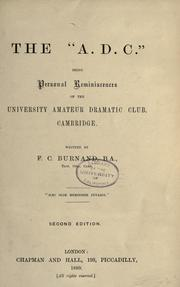 "Cover of: The ""A.D.C."""