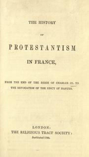 Cover of: The history of Protestantism in France |