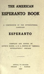 Cover of: The American Esperanto book | Arthur Baker