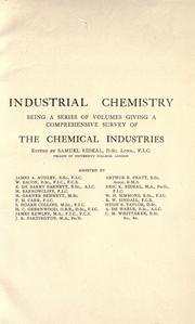 Cover of: The petroleum and allied industries