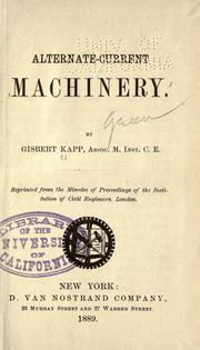 Cover of: Alternate-current machinery