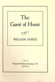 Cover of: The guest of honor