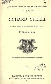 Cover of: Richard Steele