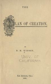 Cover of: The plan of creation