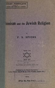 Cover of: Zionism and the Jewish religion