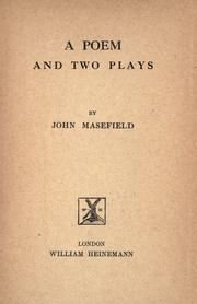 Cover of: A poem and two plays
