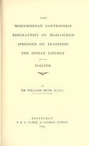 Cover of: The Mohammedan controversy