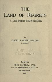 Cover of: The land of regrets