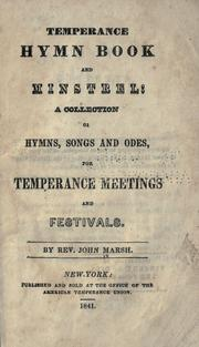 Cover of: Temperance hymn book and minstrel