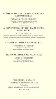 Cover of: Studies in American plants, II