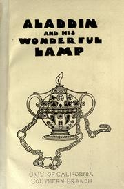 Aladdin and his wonderful lamp in rhyme.