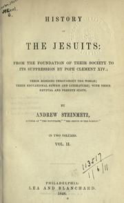 Cover of: History of the Jesuits