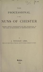 Cover of: The processional of the nuns of Chester |