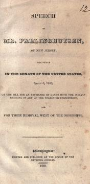 Cover of: Speech of Mr. Frelinghuysen, of New Jersey, delivered in the Senate of the United States, April 6, 1830