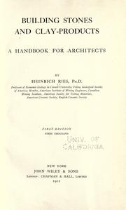 Building stones and clay-products by Ries, Heinrich