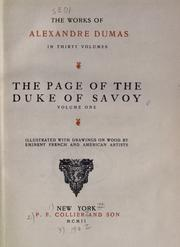 The page of the Duke of Savoy by Alexandre Dumas