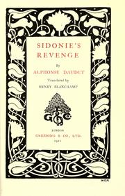 Cover of: Sidonie's revenge