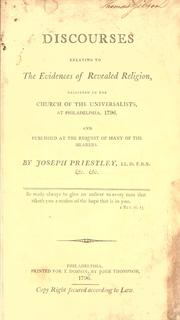 Cover of: Discourses on the evidence of revealed religion