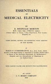 Cover of: Essentials of medical electricity