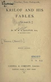 Cover of: Krilof and his fables