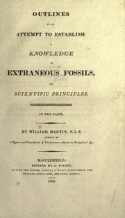 Cover of: Outlines of an attempt to establish a knowledge of extraneous fossils on scientific principles