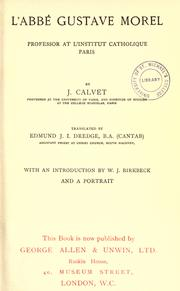Cover of: L' Abbé Gustave Morel