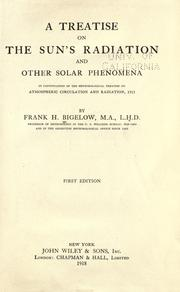 Cover of: A treatise on the sun's radiation and other solar phenomena