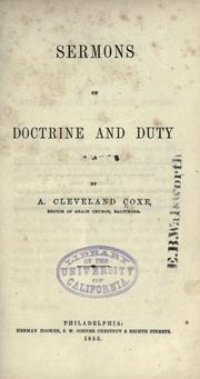 Cover of: Sermons on doctrine and duty
