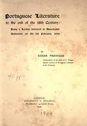 Cover of: Portuguese literature to the end of the 18th century