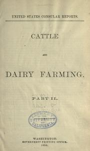 Cover of: Cattle and dairy farming