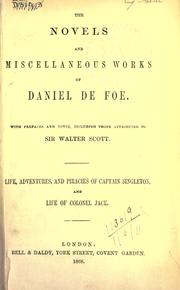 Cover of: Novels and miscellaneous works: With pref. and notes, including those attributed to Sir Walter Scott.