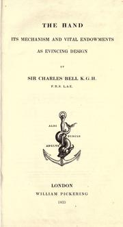 The hand by Bell, Charles Sir
