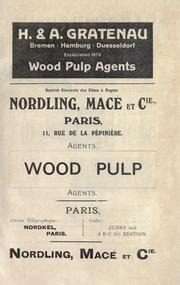 Cover of: The testing of wood pulp