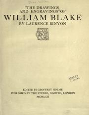 Cover of: The drawings and engravings of William Blake