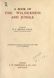 Cover of: A book of the wilderness and jungle