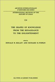 Cover of: The Shapes of knowledge from the Renaissance to the Enlightenment |
