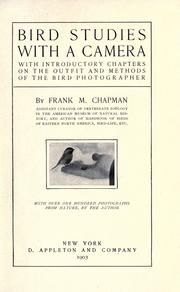 Cover of: Bird studies with a camera | Frank M. Chapman